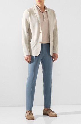 Мужской хлопковые брюки ANDREA CAMPAGNA голубого цвета, арт. STR0MB0LI/LM1571X   Фото 2