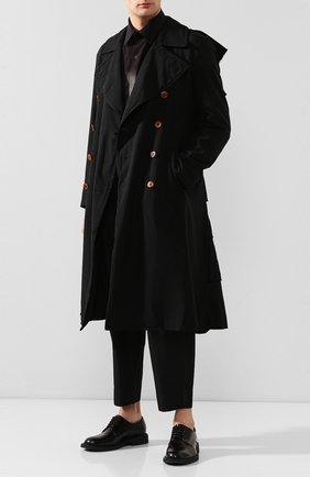 Мужской плащ COMME DES GARCONS HOMME PLUS черного цвета, арт. PE-C005-051 | Фото 2
