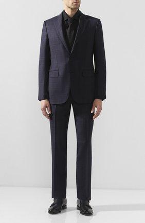Мужская хлопковая сорочка ETON черного цвета, арт. 3548 79511 | Фото 2