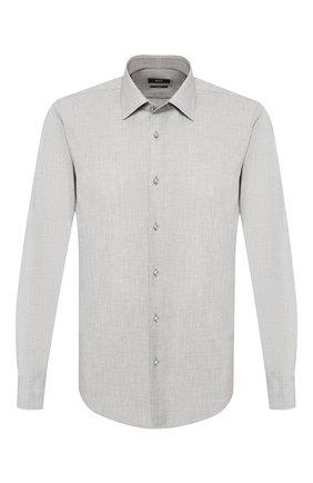 Мужская хлопковая сорочка BOSS серого цвета, арт. 50432596 | Фото 1