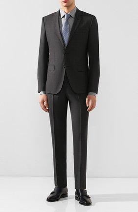 Мужская хлопковая сорочка BOSS серого цвета, арт. 50432596 | Фото 2