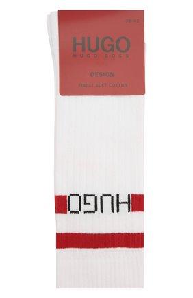 Мужские хлопковые носки HUGO белого цвета, арт. 50433391   Фото 1