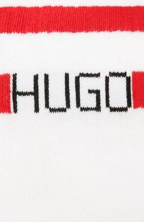 Мужские хлопковые носки HUGO белого цвета, арт. 50433391   Фото 2
