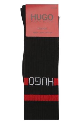 Мужские хлопковые носки HUGO черного цвета, арт. 50433391   Фото 1