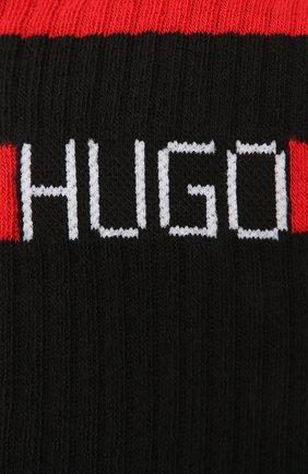 Мужские хлопковые носки HUGO черного цвета, арт. 50433391   Фото 2