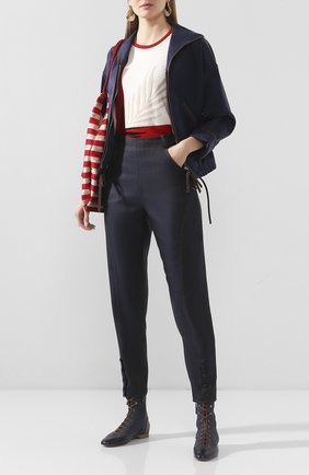 Женский пуловер из смеси шелка и шерсти GIORGIO ARMANI красного цвета, арт. 3HAM08/AM28Z | Фото 2