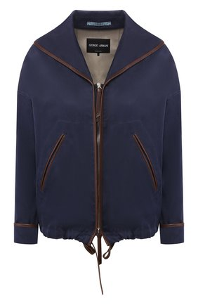Женская куртка GIORGIO ARMANI темно-синего цвета, арт. 0SH0C039/T01HM | Фото 1