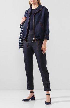 Женская куртка GIORGIO ARMANI темно-синего цвета, арт. 0SH0C039/T01HM | Фото 2