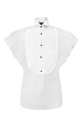 Женская шелковая блузка RALPH LAUREN белого цвета, арт. 290809624 | Фото 1