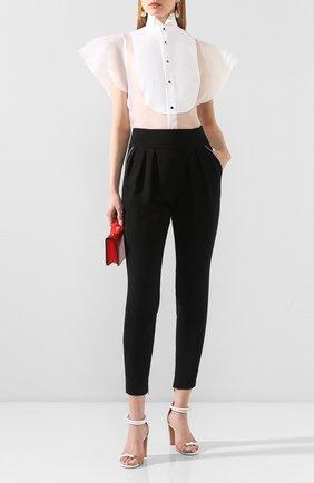 Женская шелковая блузка RALPH LAUREN белого цвета, арт. 290809624 | Фото 2