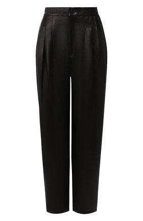 Женские кожаные брюки J BRAND черного цвета, арт. JB002747 | Фото 1