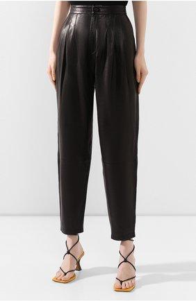 Женские кожаные брюки J BRAND черного цвета, арт. JB002747 | Фото 3