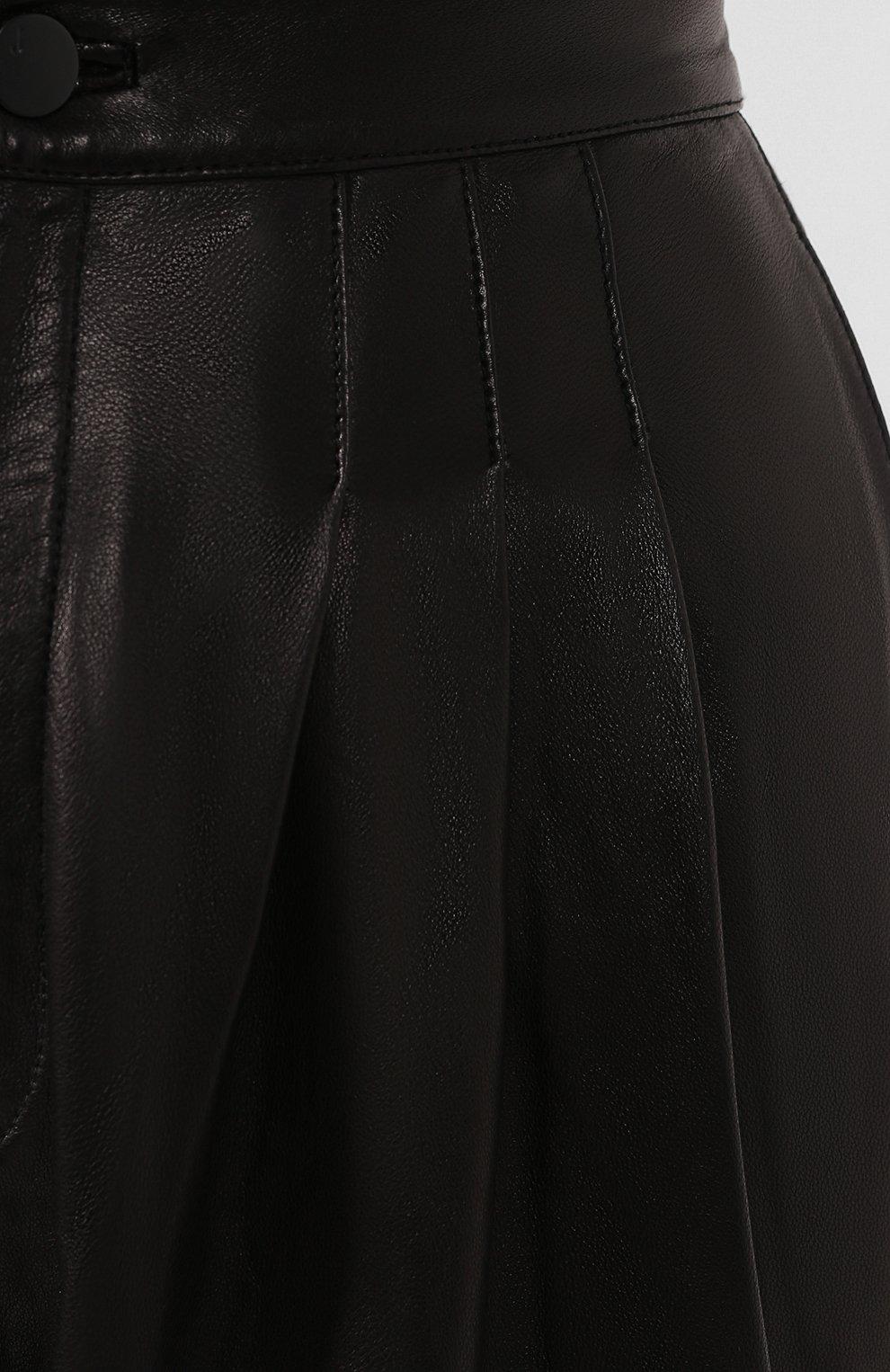 Женские кожаные брюки J BRAND черного цвета, арт. JB002747 | Фото 5