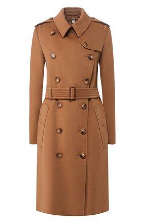 Женское кашемировое пальто kensington BURBERRY коричневого цвета, арт. 8021894 | Фото 1