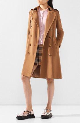 Женское кашемировое пальто kensington BURBERRY коричневого цвета, арт. 8021894 | Фото 2