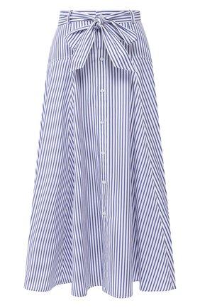 Женская хлопковая юбка POLO RALPH LAUREN голубого цвета, арт. 211793012 | Фото 1