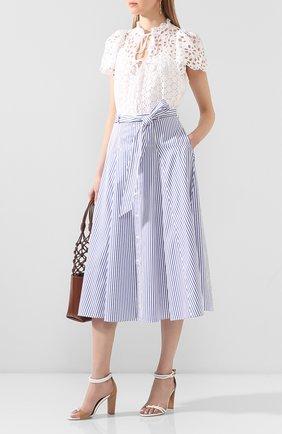 Женская хлопковая юбка POLO RALPH LAUREN голубого цвета, арт. 211793012 | Фото 2
