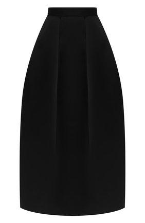 Женская шелковая юбка TOM FORD черного цвета, арт. GC5504-FAX671 | Фото 1 (Материал подклада: Шелк; Материал внешний: Шелк; Женское Кросс-КТ: Юбка-одежда; Длина Ж (юбки, платья, шорты): Макси)