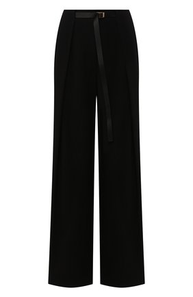 Женские шерстяные брюки THE ROW черного цвета, арт. 4945W1615 | Фото 1