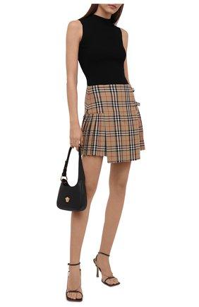 Женская шерстяная юбка BURBERRY бежевого цвета, арт. 8025832 | Фото 2