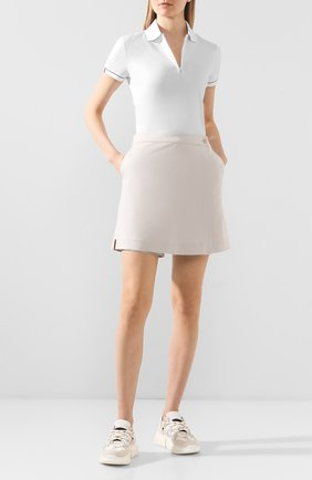 Женское поло LORO PIANA белого цвета, арт. FAL1098   Фото 2