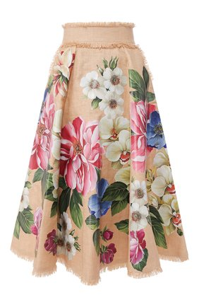 Женская юбка DOLCE & GABBANA бежевого цвета, арт. F4BR1T/GDS77 | Фото 1