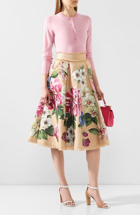 Женская юбка DOLCE & GABBANA бежевого цвета, арт. F4BR1T/GDS77 | Фото 2