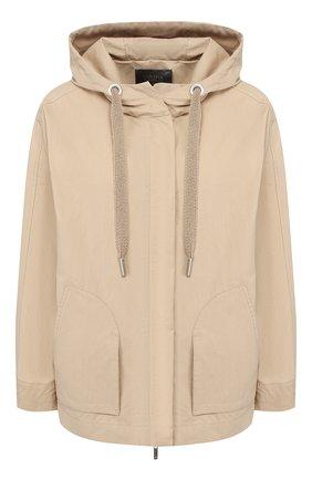 Женская хлопковая куртка LORENA ANTONIAZZI бежевого цвета, арт. P2001CP015/3220   Фото 1