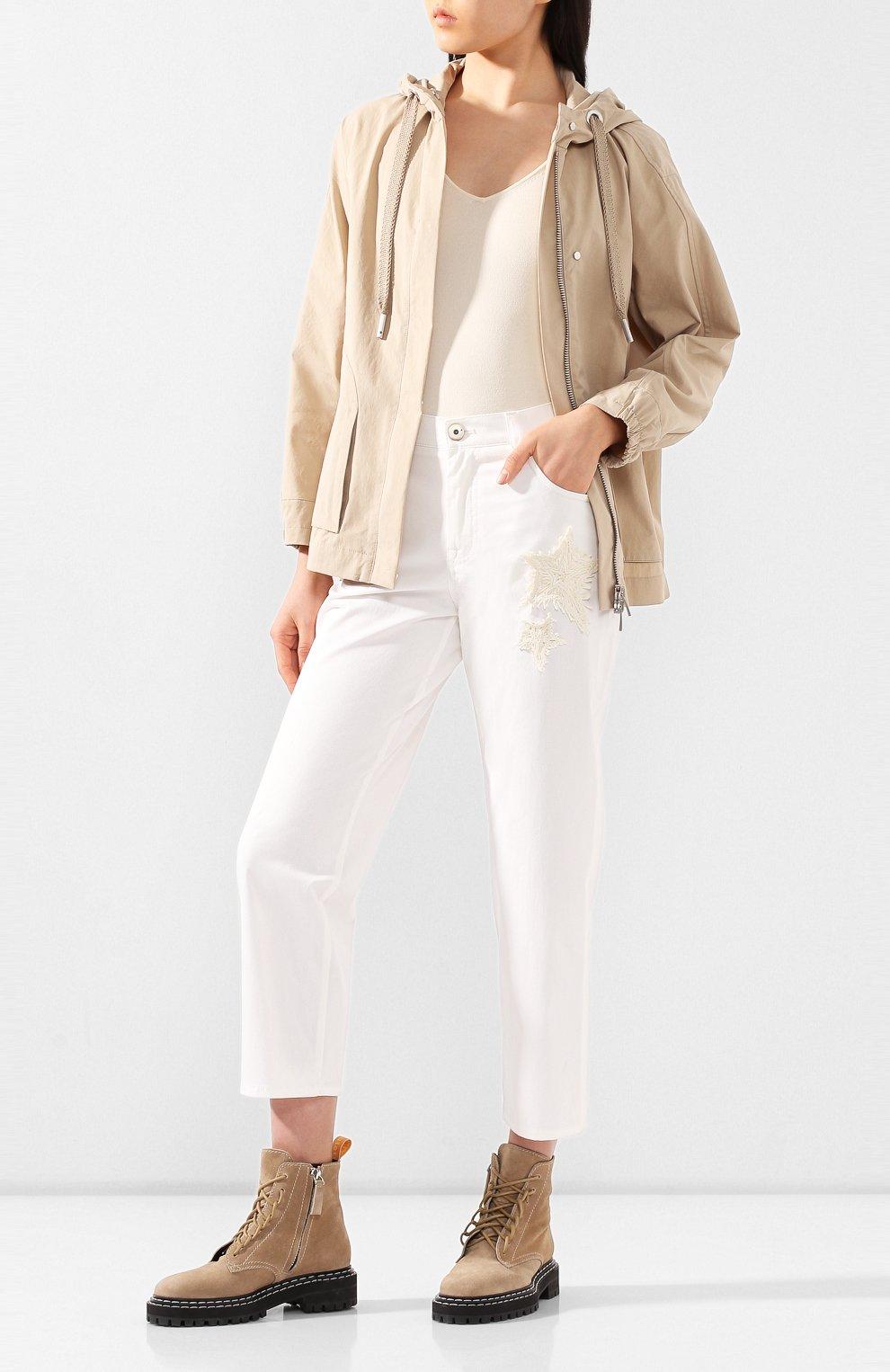 Женские джинсы LORENA ANTONIAZZI белого цвета, арт. E2002PA018/3184   Фото 2