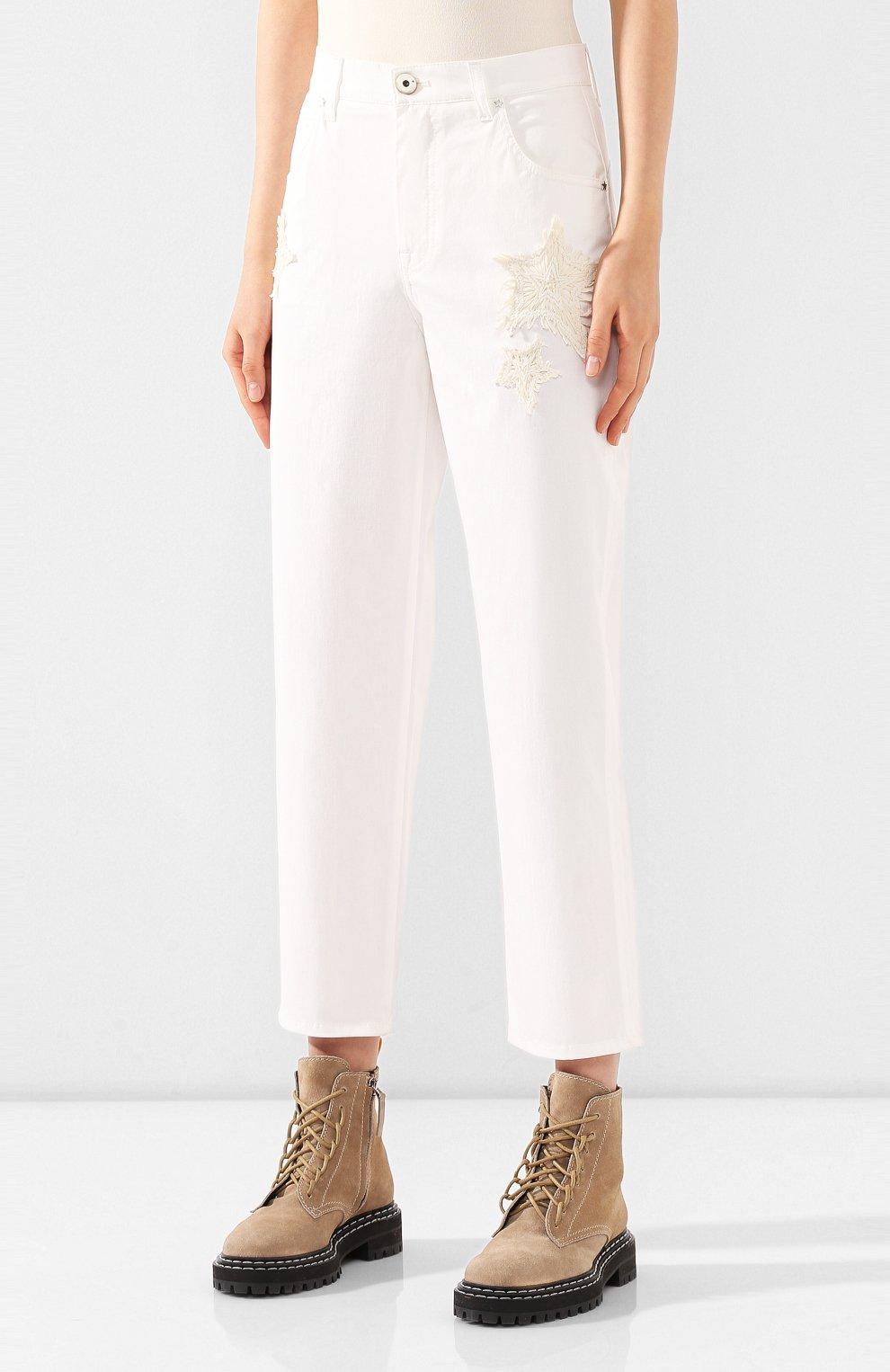 Женские джинсы LORENA ANTONIAZZI белого цвета, арт. E2002PA018/3184   Фото 3