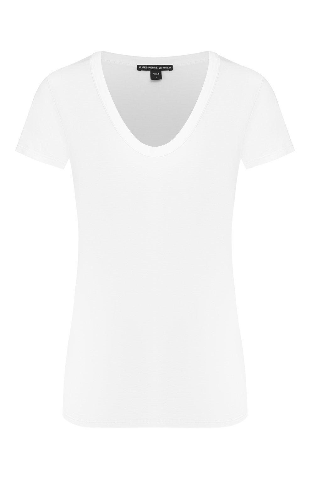 Женская хлопковая футболка JAMES PERSE белого цвета, арт. WELJ3331   Фото 1