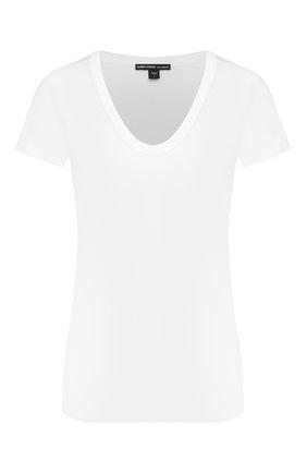 Женская хлопковая футболка JAMES PERSE белого цвета, арт. WELJ3331 | Фото 1