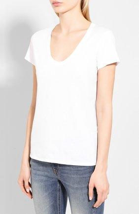 Женская хлопковая футболка JAMES PERSE белого цвета, арт. WELJ3331   Фото 3