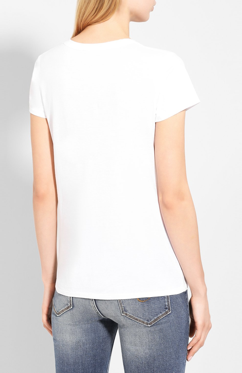 Женская хлопковая футболка JAMES PERSE белого цвета, арт. WELJ3331   Фото 4