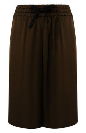 Женские шорты из вискозы DRIES VAN NOTEN хаки цвета, арт. 201-10961-9158 | Фото 1