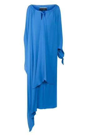 Женское шелковое платье ROLAND MOURET синего цвета, арт. SS20/S0900/F5073   Фото 1
