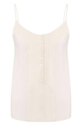 Женская шелковый топ CHLOÉ белого цвета, арт. CHC20UHT68307 | Фото 1
