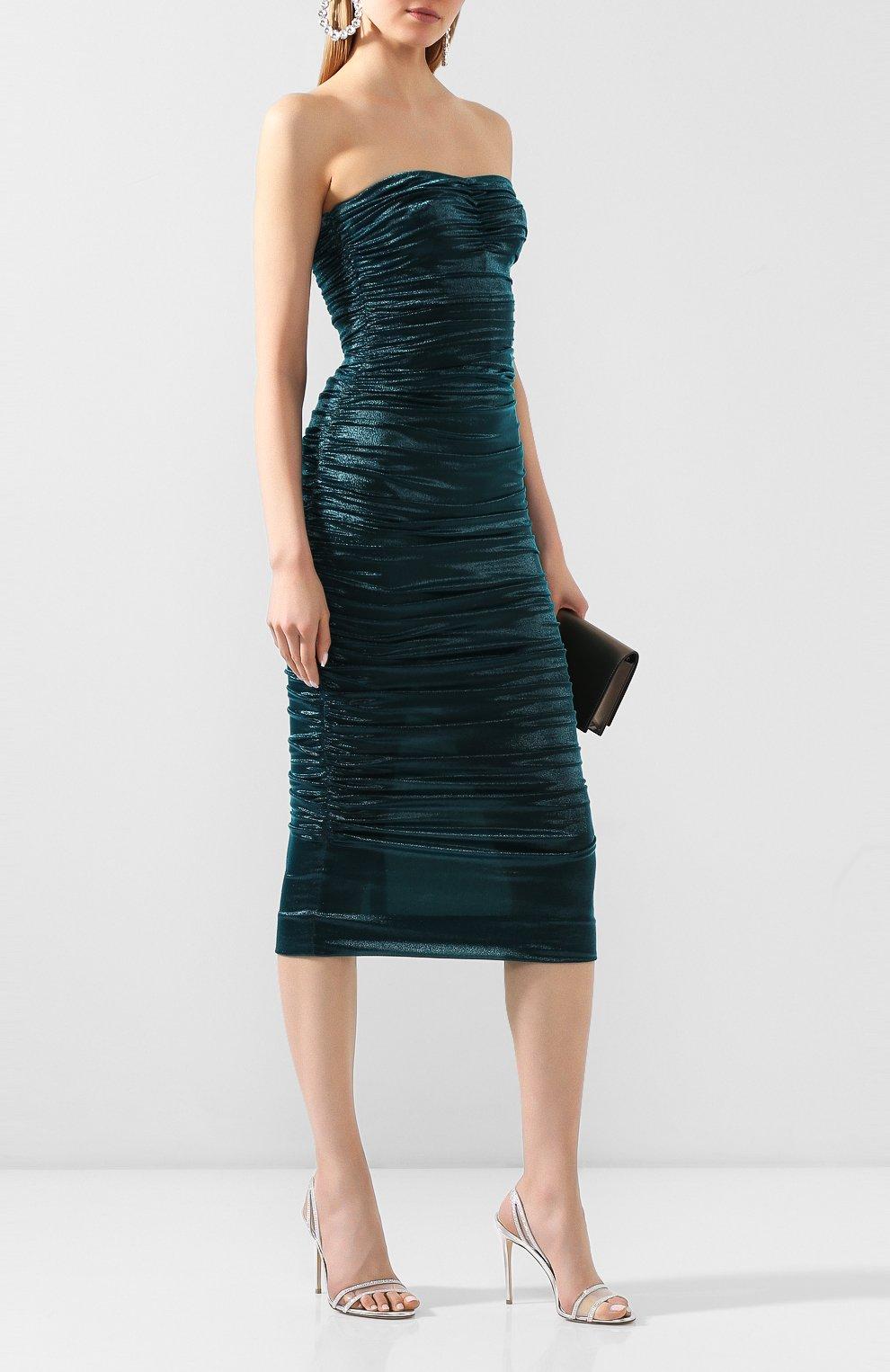 Женское платье DOLCE & GABBANA синего цвета, арт. F6I4ET/HUMIC | Фото 2
