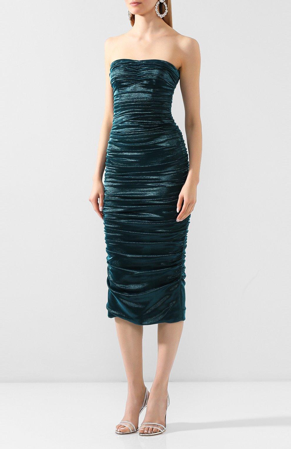 Женское платье DOLCE & GABBANA синего цвета, арт. F6I4ET/HUMIC | Фото 3