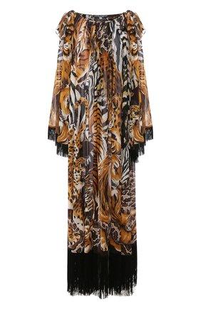 Женское шелковое платье DOLCE & GABBANA коричневого цвета, арт. F6I1LT/FI1T8 | Фото 1