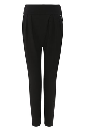 Женские шелковые брюки GIORGIO ARMANI черного цвета, арт. 0SHPP0BY/T01TY | Фото 1