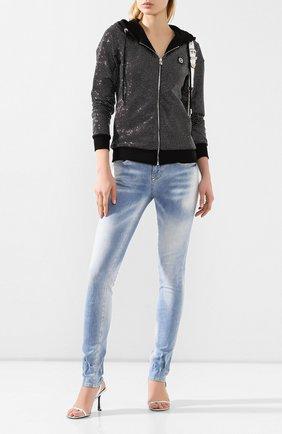 Женские джинсы PHILIPP PLEIN синего цвета, арт. P20C WDT1379 PDE004N | Фото 2