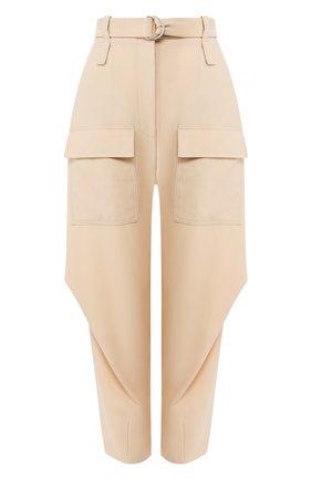 Женские шерстяные брюки STELLA MCCARTNEY бежевого цвета, арт. 600604/S0A41 | Фото 1