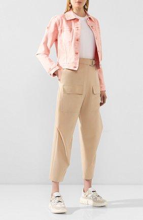 Женские шерстяные брюки STELLA MCCARTNEY бежевого цвета, арт. 600604/S0A41 | Фото 2