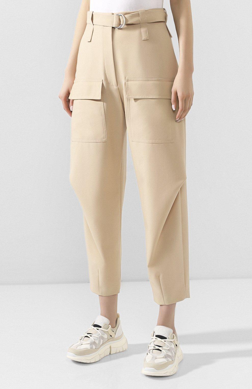 Женские шерстяные брюки STELLA MCCARTNEY бежевого цвета, арт. 600604/S0A41 | Фото 3