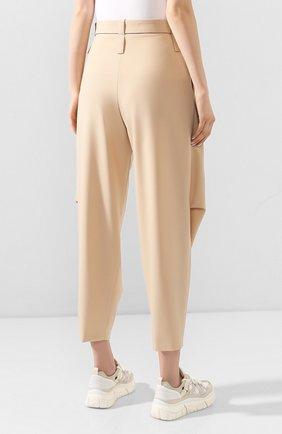 Женские шерстяные брюки STELLA MCCARTNEY бежевого цвета, арт. 600604/S0A41 | Фото 4