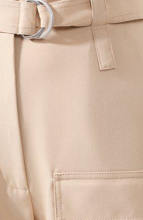 Женские шерстяные брюки STELLA MCCARTNEY бежевого цвета, арт. 600604/S0A41 | Фото 5