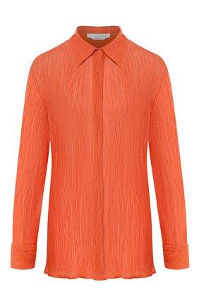 Женская рубашка из смеси хлопка и шелка GABRIELA HEARST оранжевого цвета, арт. 220117/T025/38 | Фото 1