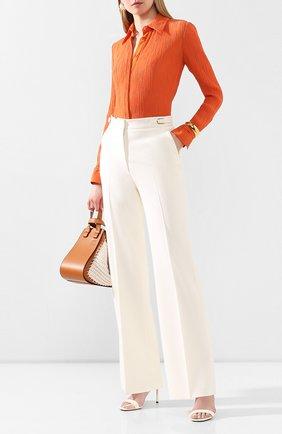 Женская рубашка из смеси хлопка и шелка GABRIELA HEARST оранжевого цвета, арт. 220117/T025/38 | Фото 2