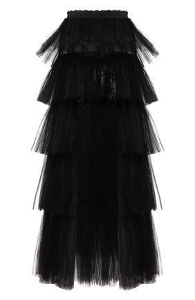 Женская юбка ZUHAIR MURAD черного цвета, арт. SKS20038/TUTU002 | Фото 1
